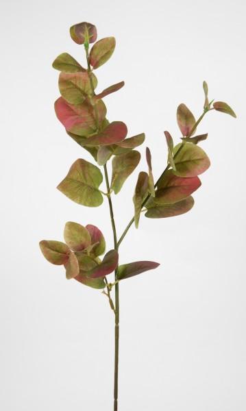 Eukalyptuszweig 65cm grün-mauve DP Kunstzweig künstliche Zweige Kunstpflanzen künstlicher Eukalyptus