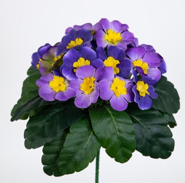 Primelbusch 24x22cm helllila mit 20 Blüten PM Kunstblumen Kunstpflanzen künstliche Primel Blume