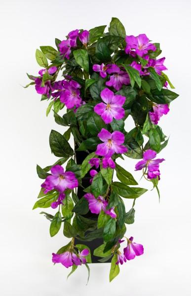 Hibiskusranke 70cm dunkellila ZF Kunstpflanzen Kunstblumen künstliche Pflanzen künstlicher Hibiskus