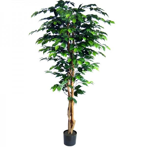 grün Kunstpflanze // Deko Topf Pflanze 150cm Künstlicher Ficus Benjamini