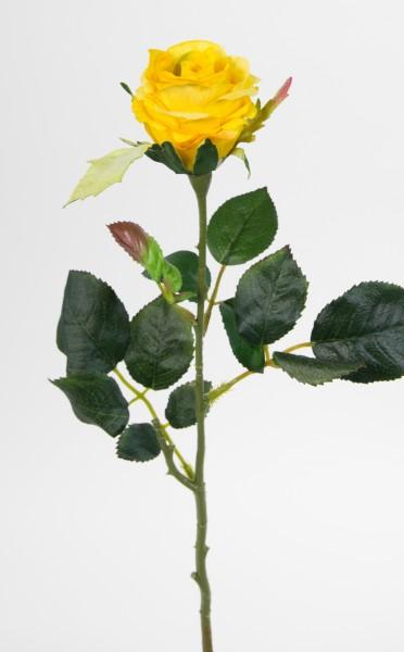 12 Stück Rose Elena 45cm gelb PM Seidenblumen Kunstblumen künstliche Blumen Rosen