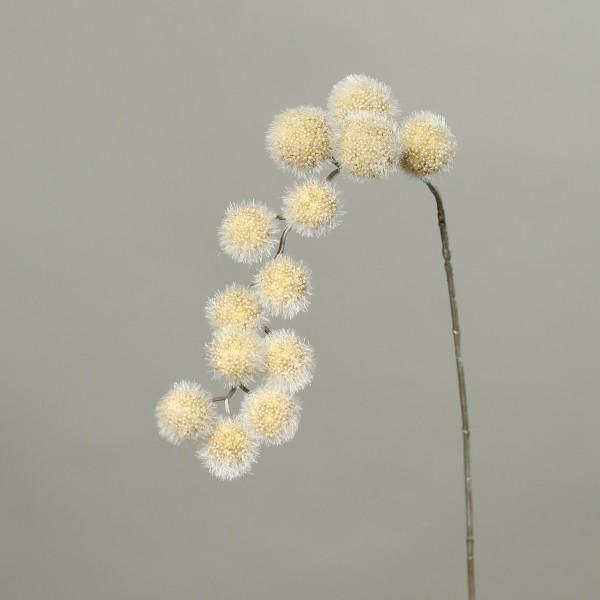 Kugelgras / Kugelzweig 82cm gold DP künstlicher Zweig Kunstblumen künstliche Blumen