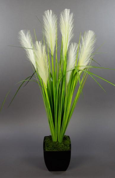 Palmengrasbusch 75cm im schwarzen Dekotopf DP Kunstpflanzen Kunstgras künstliches Gras Grasbusch