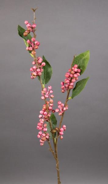 Beerenzweig Natural 62cm rosa LM Kunstzweig künstlicher Zweig Kunstpflanzen