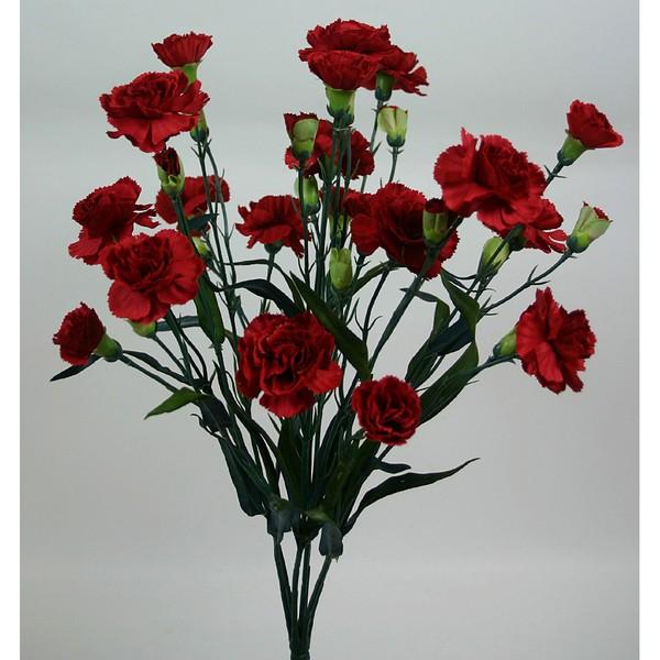 Trossnelkenbusch 50cm rot DP Kunstblumen künstliche Nelke Nelken Trossnelken Blumen