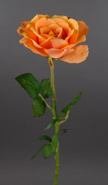 Bogota-Rose 56cm orange DP Kunstblumen Seidenblumen künstliche Blumen Rose