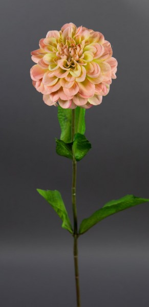 Dahlienzweig 66cm salmon CG Kunstblumen künstliche Dahlienzweig Blumen Seidenblumen
