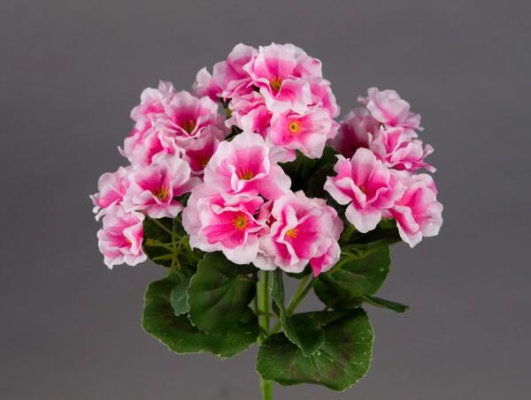 Geranie 26cm rosa -ohne Topf- ZF (Modell 2018) Kunstpflanzen Kunstblumen künstliche Blumen Pflanzen