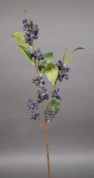 Beerenzweig Natural 62cm blau-lila LM Kunstzweig künstlicher Zweig Kunstpflanzen