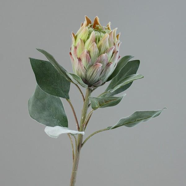 Königsprotea 72cm grün-orange DP Kunstblumen künstliche Blumen Protea