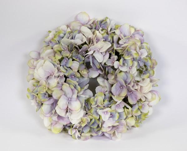 Hortensienkranz 32cm lila-creme-grün CG künstlicher Kranz künstliche Hortensien