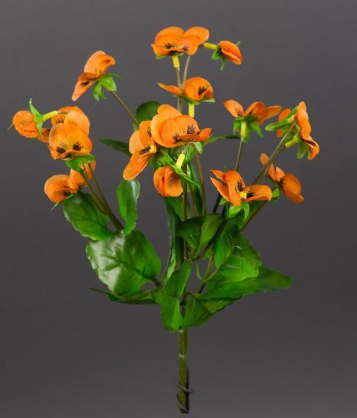 Hornveilchen 22cm orange FI Kunstpflanzen Kunstblumen künstliche Veilchen Stiefmütterchen Pflanzen