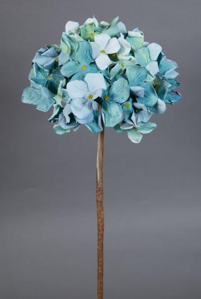 Hortensie Nature 62cm türkis CG Kunstlbumen künstliche Blumen Hortensien