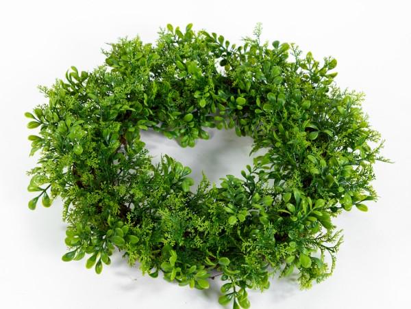 Buchsbaum- / Koniferenkranz 45cm kräftig-grün FI künstlicher Kranz Buchsbaumkranz