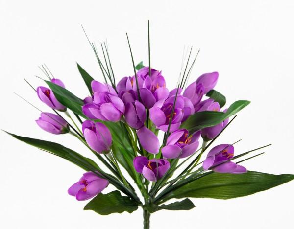Krokusbusch 28cm lila PM Kunstpflanzen Kunstblumen künstlicher Crocus Krokus Blumen