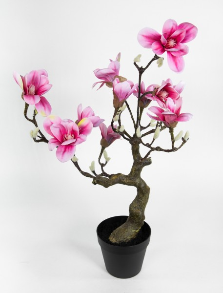 Magnolienbaum Real Touch 75x48x36cm rosa-pink GA Kunstpflanzen Kunstblumen künstliche Magnolie