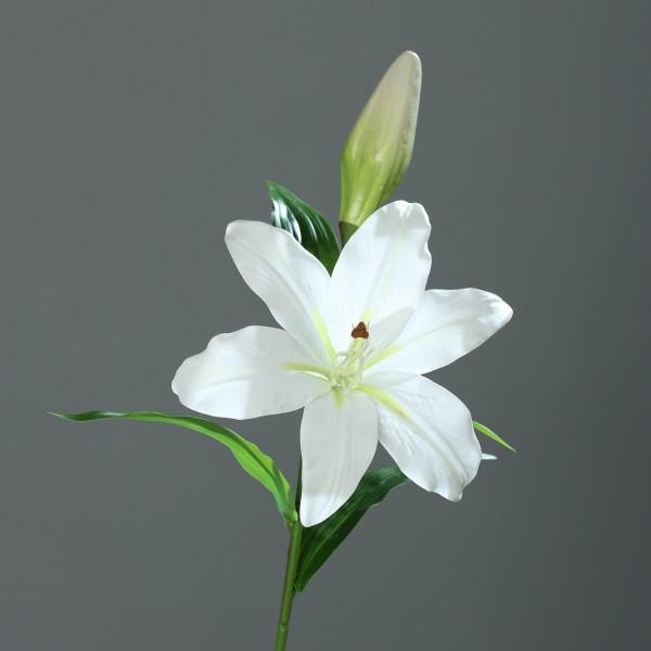 Lilie Real Touch 50cm weiß DP Kunstblumen künstliche Blumen künstlicher Lilienzweig