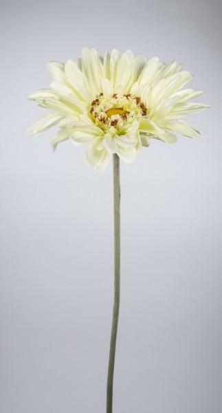Große Deko-Gerbera 110cm weiß-creme JA Kunstblumen Seidenblumen künstliche Blumen Gerbera
