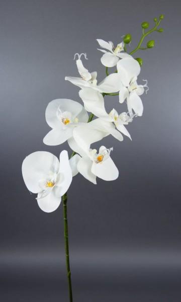 Orchideenzweig 85cm weiß DP Kunstblumen künstliche Orchidee Blumen Pflanzen Kunstpflanzen