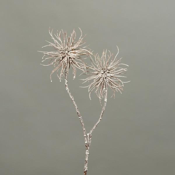 Zaubernusszweig / Hamameliszweig 45cm braun-weiß GA Kunstblumen Kunstzweig künstliche Blumen Hamamel
