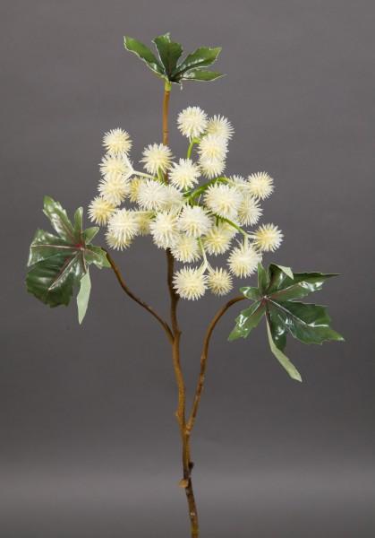 Wunderbaumzweig / Rizinuszweig 50cm weiß JA Kunstblumen künstliche Blumen Rizinus