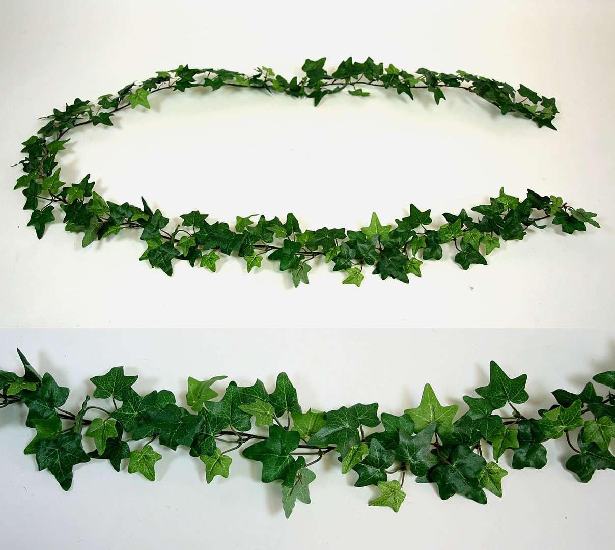 efeugirlande 180cm grün da - kunstpflanzen kunstblumen künstliches efeu