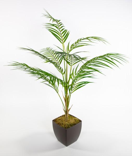 Zimmerpalme 80x60cm im grauen Dekotopf CG Kunstpalme Dekopalme Kunstpflanzen künstliche Palme