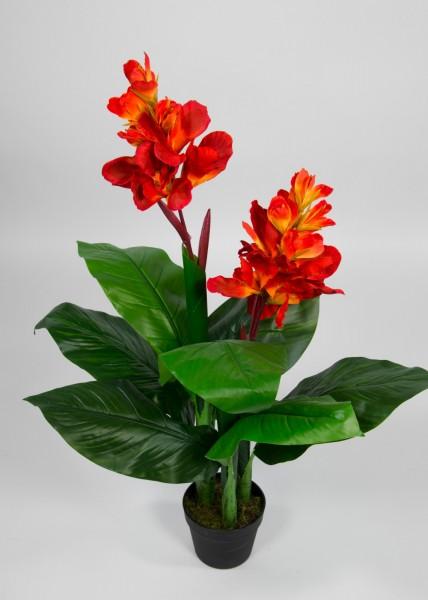 Canna Lily 90cm orange-gelb ZJ Kunstpflanzen künstliche Pflanzen Cannapflanze