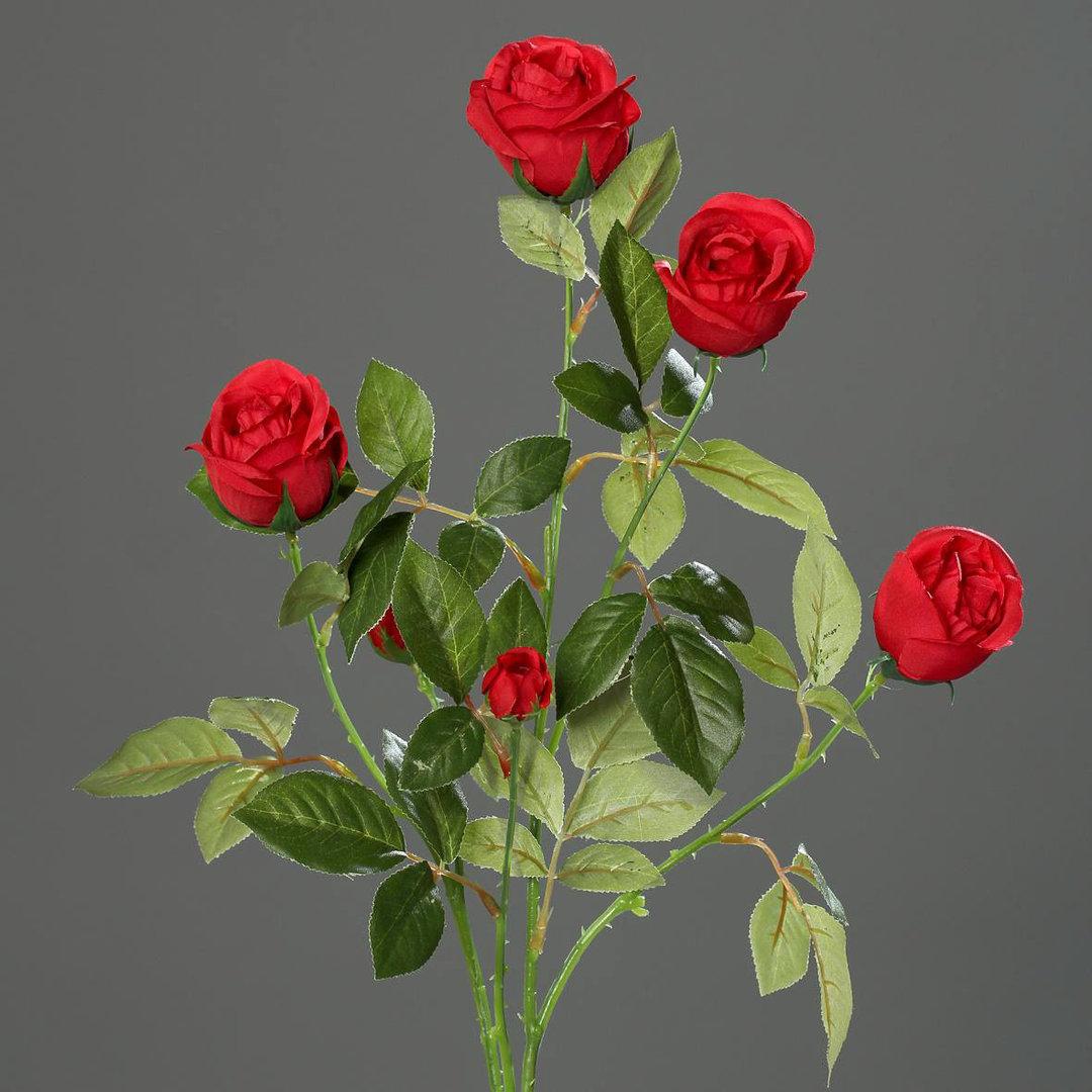 rosenzweig 72cm rot dp kunstblumen seidenblumen k nstliche blumen rosen rosen k nstliche. Black Bedroom Furniture Sets. Home Design Ideas