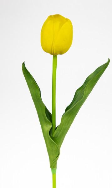 Künstliche Tulpe PU Real Touch 50cm gelb ZF Kunstblumen künstliche Blumen Tulpen