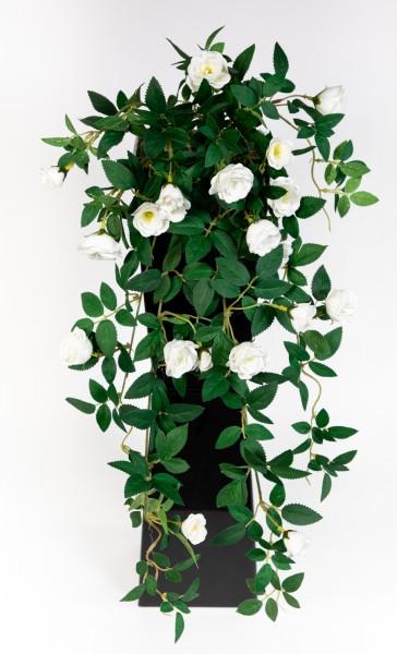 Rosenranke 62cm weiß ZF Kunstpflanzen Kunstblumen künstliche Pflanzen künstliche Rosen