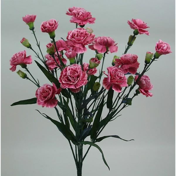 Trossnelkenbusch 50cm rosa DP Kunstblumen künstliche Nelke Nelken Trossnelken Blumen