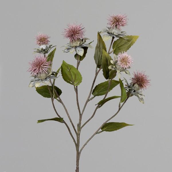 Kugeldistelzweig 78cm dunkel-rosa DP Kunstblumen künstliche Blumen Distel Kugeldistel Kunstzweig