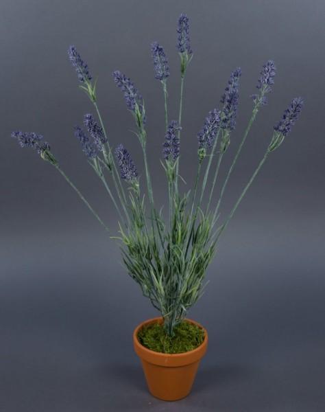 Lavendelbusch 56cm im Topf FI Kunstpflanzen künstlicher Lavendel Kunstblumen