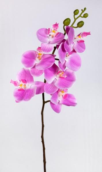 Orchideenzweig Real Touch 94cm rosa-pink ZJ Kunstblumen künstliche Orchidee Orchideen Blumen
