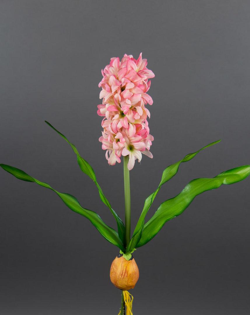 hyazinthe mit zwiebel 32cm rosa pink pf k nstliche blumen pflanzen kunstpflanzen kunstblumen. Black Bedroom Furniture Sets. Home Design Ideas