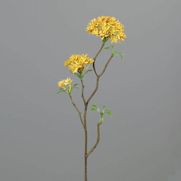 Bouvardienzweig 55cm gelb GA Kunstblumen künstliche Bowardien Bouvardien Blumen Zweige