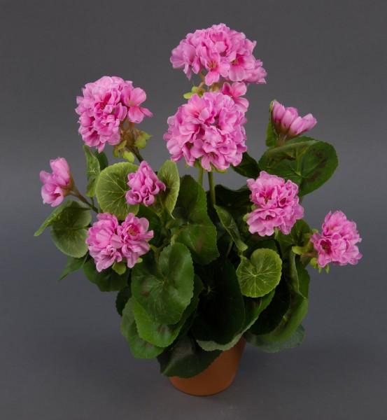 Geranie 36cm rosa -ohne Topf- LM Kunstpflanzen künstliche Blumen Pflanzen Kunstblumen