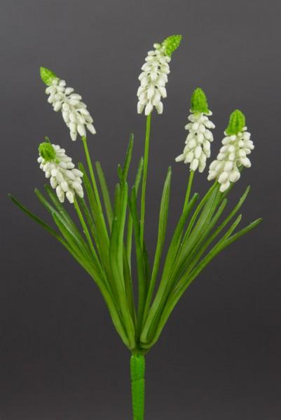 Traubenhyazinthen-Busch 32cm weiß PF künstliche Hyazinthe Blumen Kunstpflanzen Kunstblumen