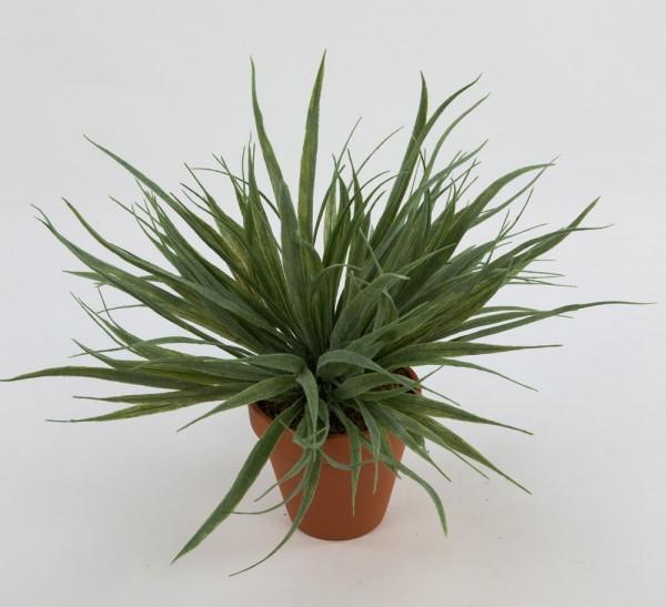 Grasbusch 32cm grün-grau -ohne Topf- CG Kunstpflanzen künstliches Gras Kunstgras Dekogras
