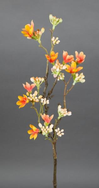 Quittenzweig / Quittenast 52cm peach GA Kunstblumen künstliche Blumen Quitten Zweige