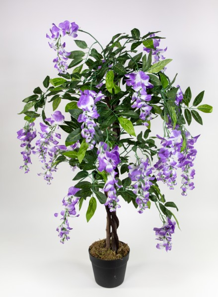 Wisteriabaum 90cm lila ZJ Kunstbaum Kunstpflanzen künstlicher Baum Pflanzen Blauregen Wisteria