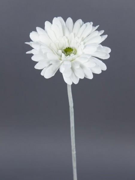 Gerbera 56cm weiß DP Kunstblumen Seidenblumen künstliche Blumen