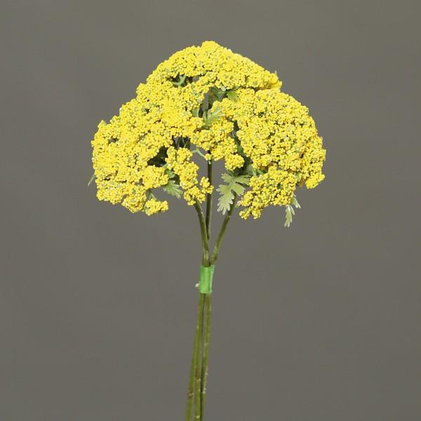 3 Stück Anethum / Dillzweig 28cm gelb DP Kunstzweig künstlicher Dill Zweig Kunstpflanzen