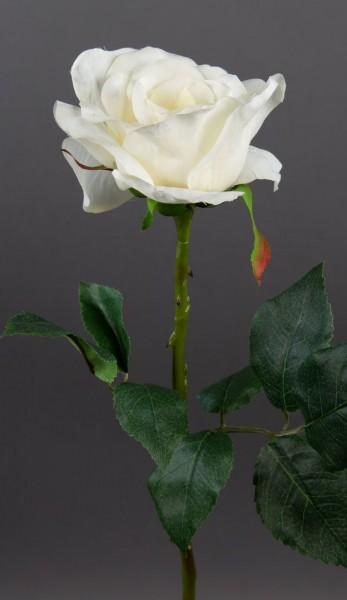 Rose Harmonie 38cm creme-weiß AR Kunstblumen künstliche Rose Rosen Blumen Seidenblumen