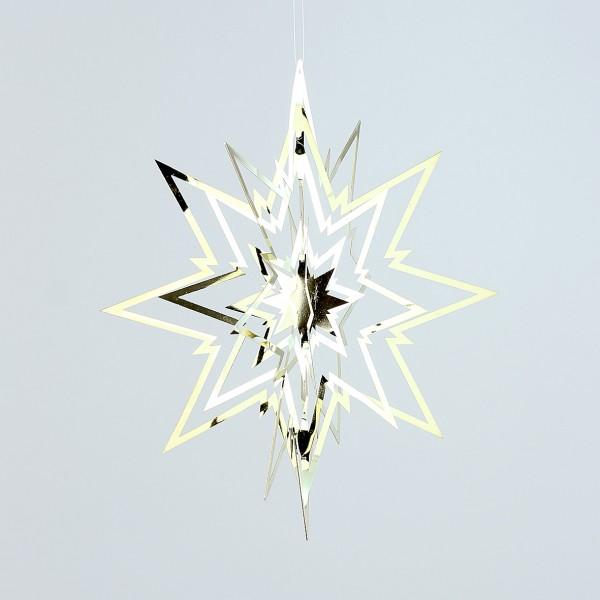 3D Stern Ornament 23x23cm gold DP Dekostern
