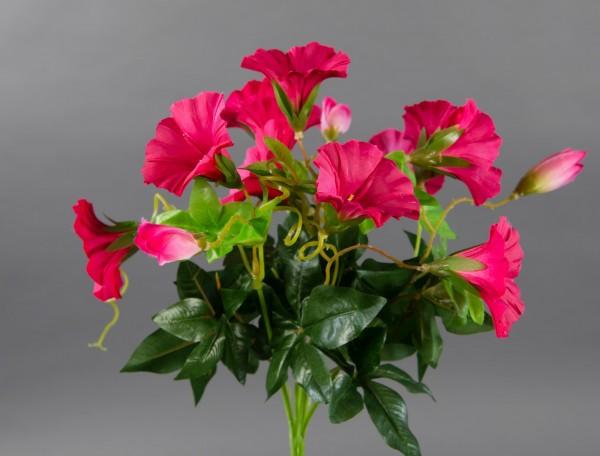 Petunienbusch 28cm pink -ohne Topf- ZF künstliche Pflanze künstliche Petunie Kunstblume Kunstpflanze