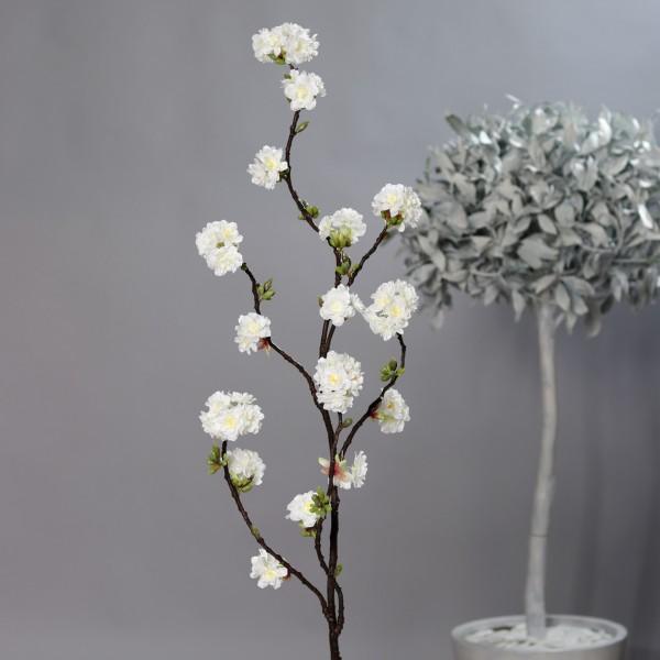 Kirschblütenzweig Nature 145cm weiß DP Kunstblumen künstliche Kirschblüten Blumen Zweige