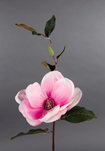 Magnolienzweig 42cm rosa DP Kunstblumen künstliche Magnolie Blumen Seidenblumen