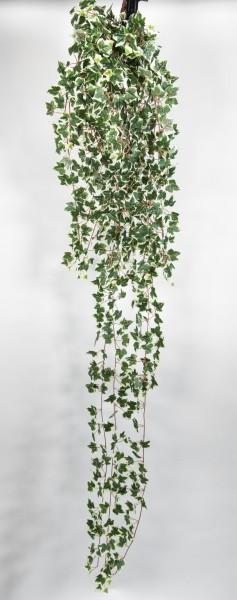 Künstlicher Efeubusch 170cm grün-weiß GA Kunstpflanzen künstliche Pflanzen Efeuranke